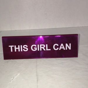 "Desk Sign ""This Girl Can"" MOTIVATIONAL!!!"